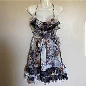 ◾️Johnny Martin Tiered Ruffle Leopard Print Dress